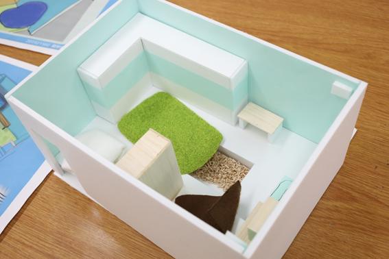 図3:休憩室のデザインについて考える授業で学生が制作した作品