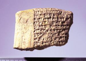 図3:テル・タバン出土養子縁組契約文書(前15~14世紀)