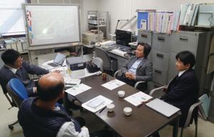 図2:徳島大と徳島県庁との打ち合わせ風景