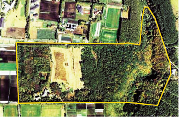 図1:菅平高原実験センター(枠内)鳥瞰図